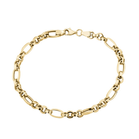 "19cm (7.5"") Hollow Bracelet in 10ct Yellow Gold"