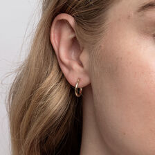14mm Hoop Earrings in 10ct Yellow Gold