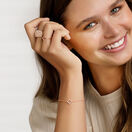 "19cm (7"") Clover Bracelet with 0.12 Carat TW of Diamonds in 10ct Rose Gold"