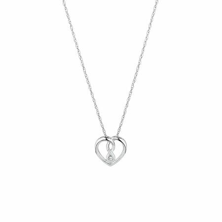 Mini Infinitas Pendant with Diamonds in Sterling Silver
