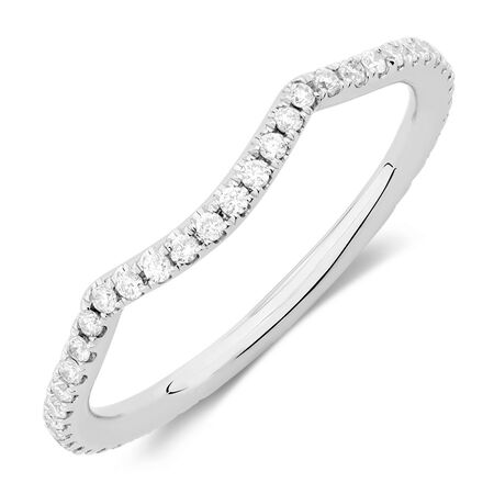 Sir Michael Hill Designer GrandAdagio Wedding Band with 1/5 Carat TW of Diamonds in 14ct White Gold