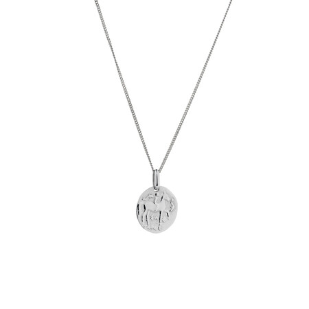 Coin Pendant in Sterling Silver