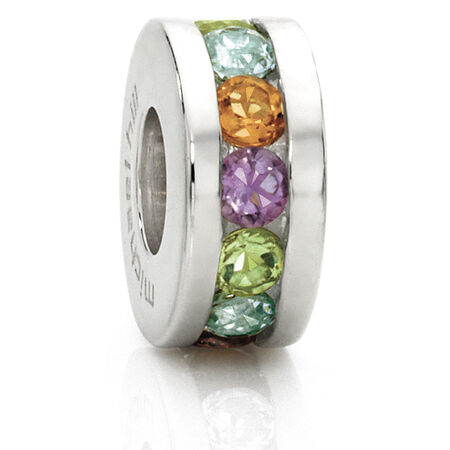 Multi-Coloured Cubic Zirconia Charm