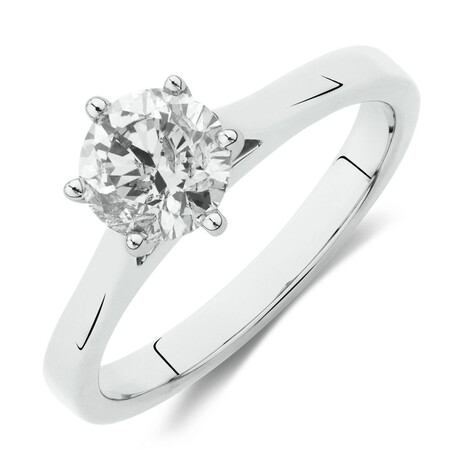 Prelude Solitaire Engagement Ring with 1.50 Carat TW Diamond in 14ct White Gold