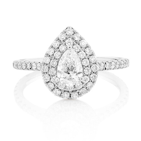 Sir Michael Hill Designer GrandArpeggio Engagement Ring with 1.20 Carat TW of Diamonds in 14ct White Gold