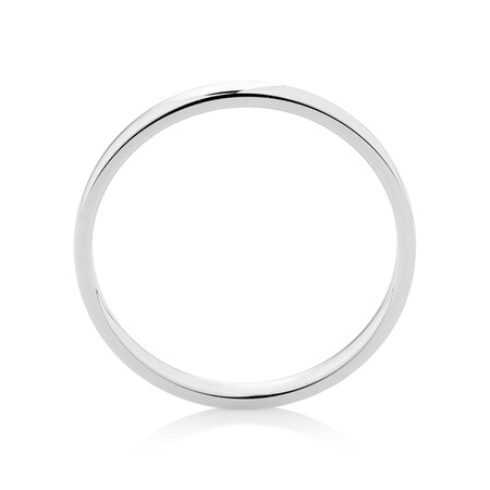 Lite Half Round Wedding Band in Platinum