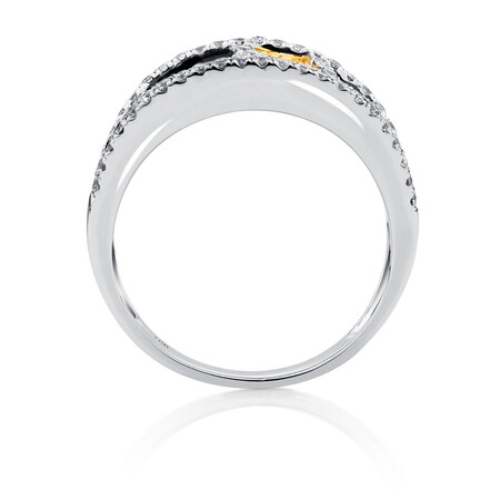Online Exclusive - Ring with 1.23 Carat TW of Enhanced Multi-Coloured Diamonds in 10ct White Gold