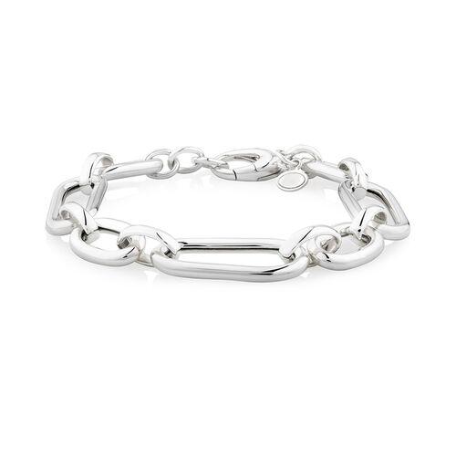 Large Oval Link Bracelet in Sterling Silver
