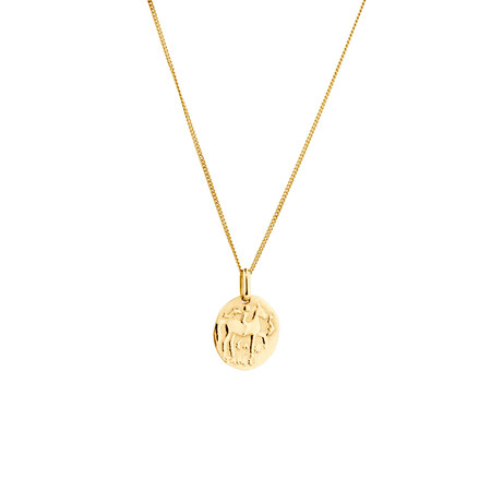 Small Coin Pendant in 10ct Yellow Gold