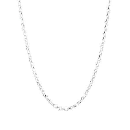 "55cm (22"") Oval Belcher Chain in Sterling Silver"