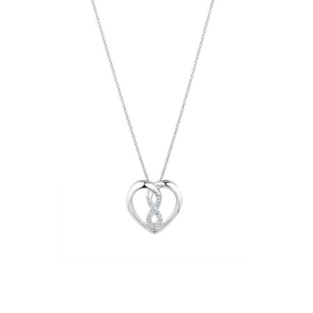 Mini Infinitas Pendant with Diamonds in Sterling Silver