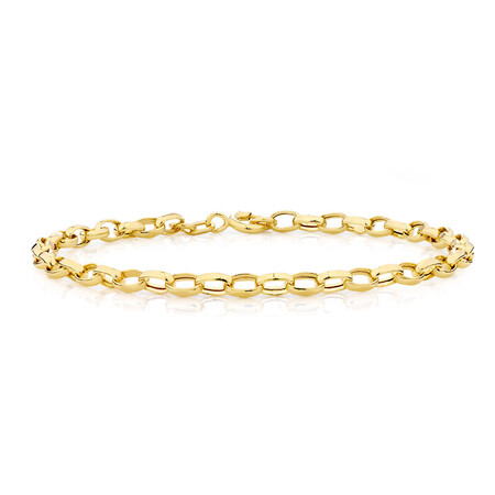 "21cm (8"") Belcher Bracelet in 10ct Yellow Gold"