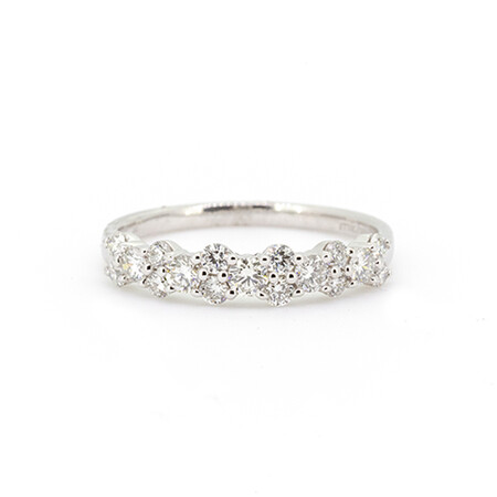 Ring with 0.63 Carat TW of Diamonds in 10ct White Gold