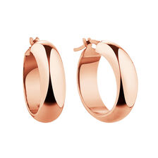 19mm Hoop Earrings in 10ct Rose Gold