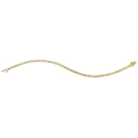 Tennis Bracelet with 3 Carat TW of Diamonds in 18ct Yellow Gold