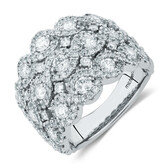 Ring with 2 1/4 Carat TW of Diamonds in 14ct White Gold