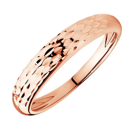 Dome Stacker Ring in 10ct Rose Gold