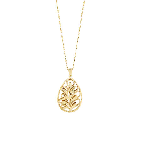 Pear Pendant in 10ct Yellow Gold