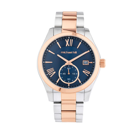 Water Resistant Watch In Rose And White Tone Stainless Steel