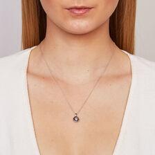 Everlight Pendant with White & Enhanced Blue Diamonds