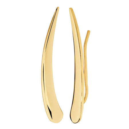 Ear Climbers in 10ct Yellow Gold