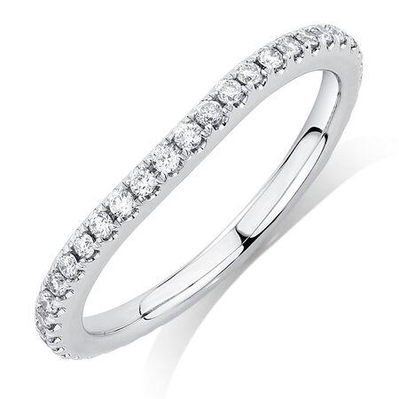 Sir Michael Hill Designer GrandArpeggio Wedding Band with 0.33 Carat TW of Diamonds in 14ct White Gold