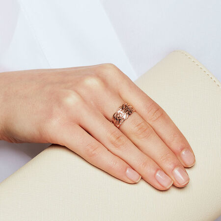 Filigree Ring in 10ct Rose Gold