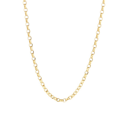 """55cm (22"""") Oval Belcher Chain 10ct Yellow Gold"""