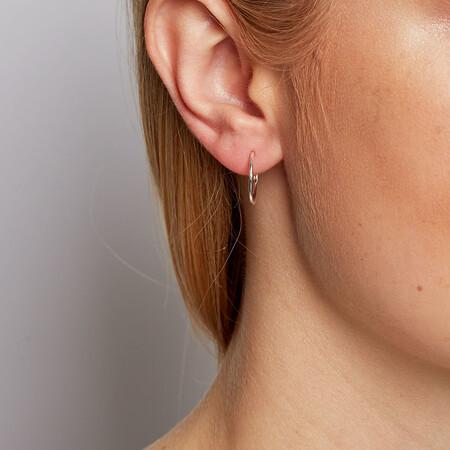 16mm Sleeper Earrings in Sterling Silver