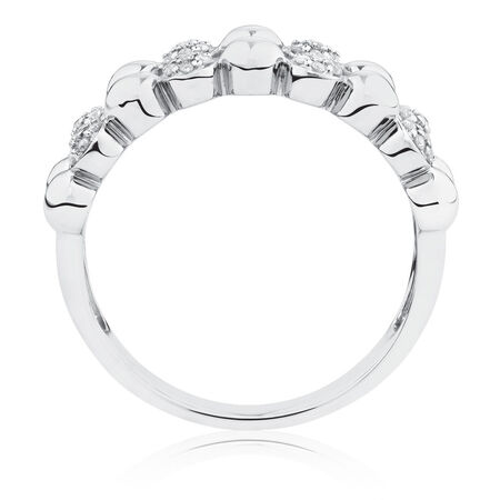Bubble Ring with 0.16 Carat TW of Diamonds in Sterling Silver