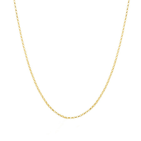 """40cm (16"""") Hollow Belcher Chain in 10ct Yellow Gold"""