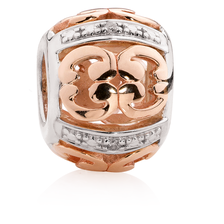 10ct Rose Gold & Sterling Silver Charm