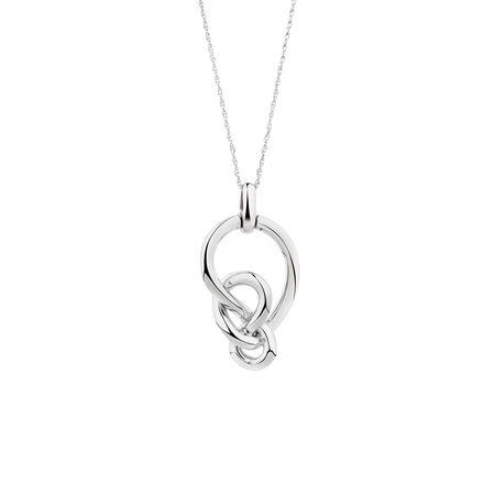 Medium Knots Pendant in Sterling Silver