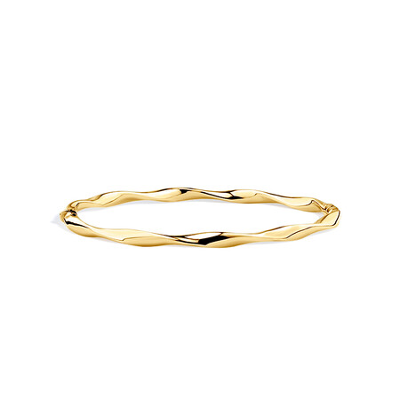 Twist Bangle in 10ct Yellow Gold