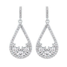 Teardrop Earrings with Luxe Cubic Zirconia in Sterling Silver