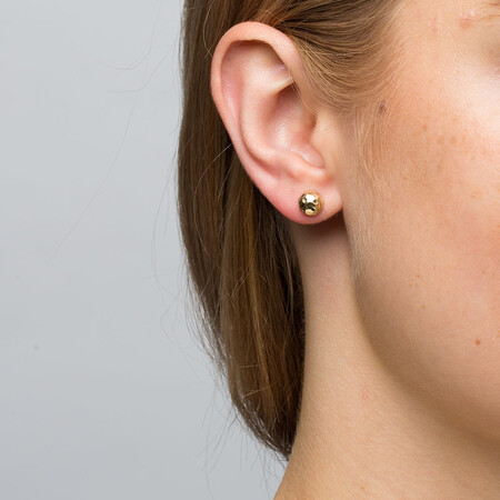 7mm Stud Earrings in 10ct Yellow Gold