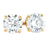 Stud Earrings with 3/4 Carat TW of Diamonds in 18ct Yellow Gold
