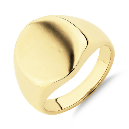 Men's Signet Ring in 10ct Yellow Gold