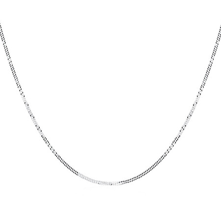 "40cm (16"") Curb Chain in Sterling Silver"