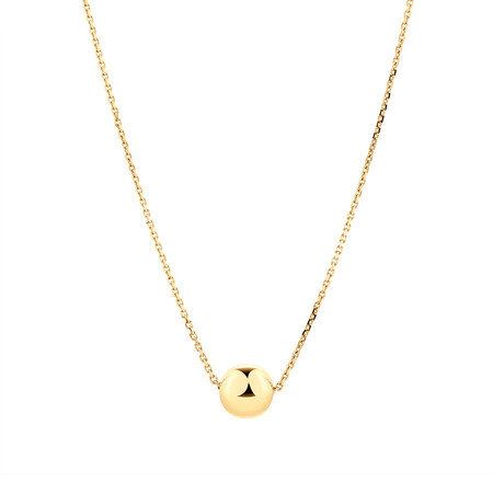 6mm Ball Necklace in 10ct Yellow Gold