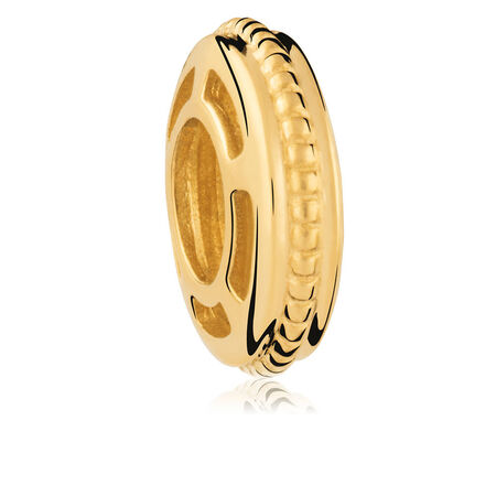 10ct Yellow Gold Pattern Spacer
