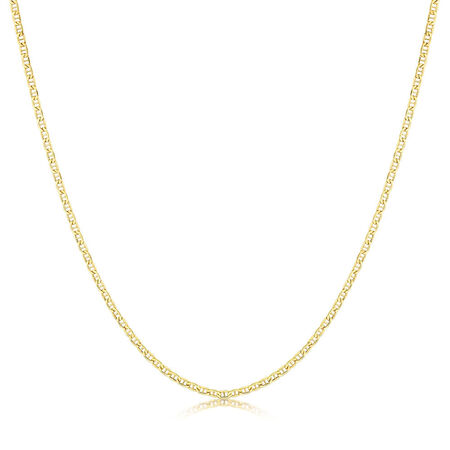 "50cm (20"") Hollow Anchor Chain in 10ct Yellow Gold"