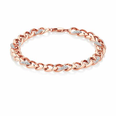 Bracelet with 1/4 Carat TW of Diamonds in 10ct Rose Gold