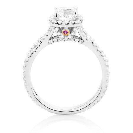 Sir Michael Hill Designer GrandAdagio Engagement Ring with 1 3/4 Carat TW of Diamonds in 14ct White Gold
