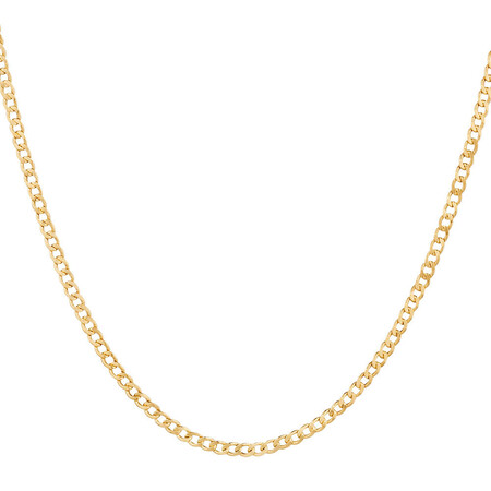 "45cm (18"") Hollow Curb Chain in 10ct Yellow Gold"