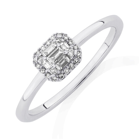 Evermore Promise Ring with 0.15 Carat TW of Diamonds in 10ct White Gold