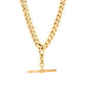 """50cm (20"""") Hollow Fob Chain in 10ct Yellow Gold"""