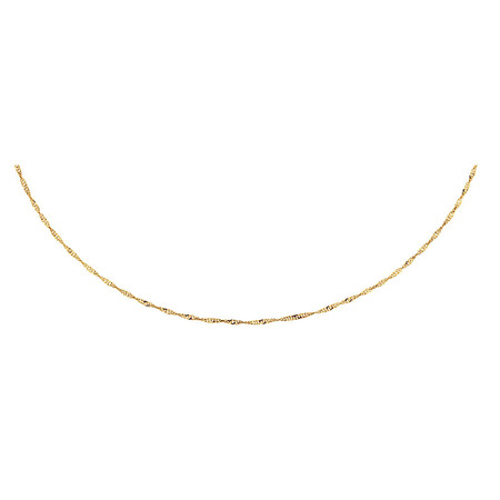 "40cm (16"") Hollow Singapore Chain in 10ct Yellow Gold"