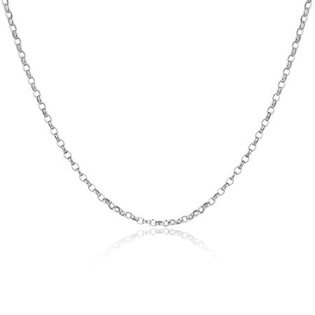 "70cm (28"") Oval Belcher Chain in Sterling Silver"
