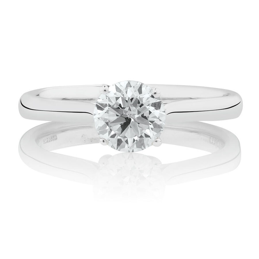 Southern Star Solitaire Engagement Ring with a 1 Carat TW Diamond in 14ct White Gold